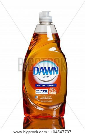 MIAMI, USA - February 12, 2015: Dawn dish washing detergent combines its grease-cutting power.