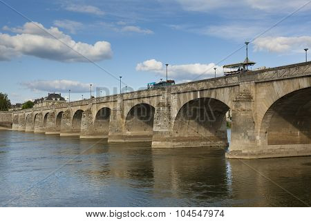 Bridge Of Saumur, Maine-et-loire, Pays De La Loire, France