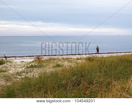 Fisherman Angler By The Sea