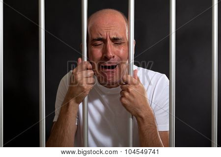 Desperate man in jail