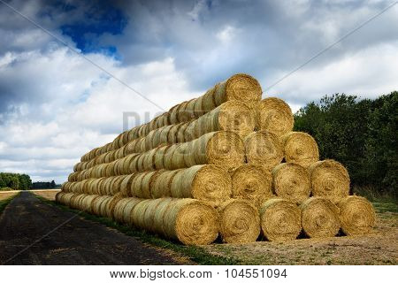 pile of cylinder haystacks 3