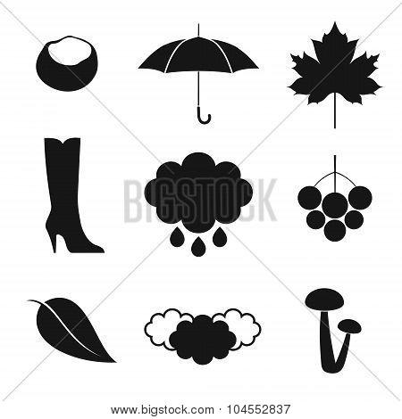 Autumn. Icon set