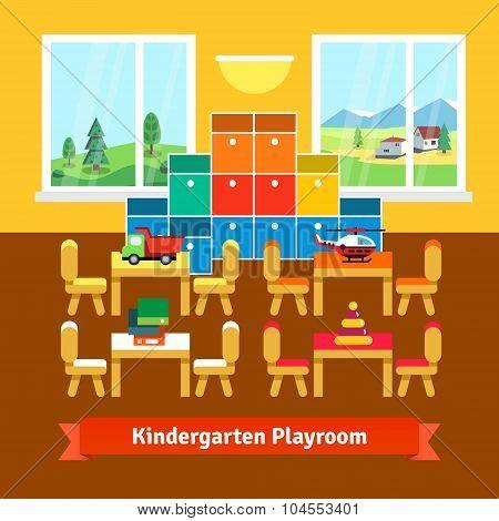 Kindergarten playroom classroom