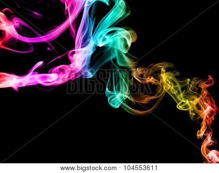 Abstract Smoke Graphic Colorful Background. Colorful Smoke Abstract Background Made With Colorful Fi