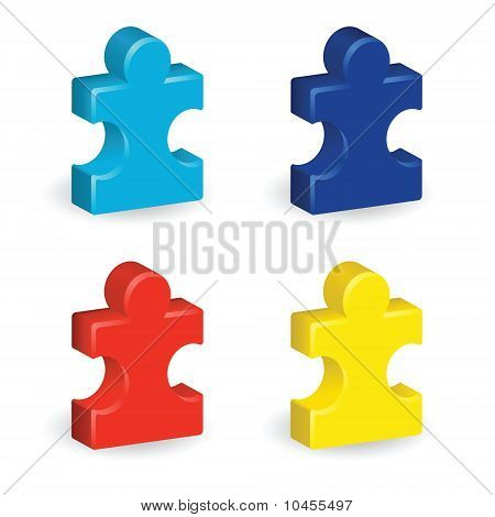 Three-Dimensional Puzzle Pieces
