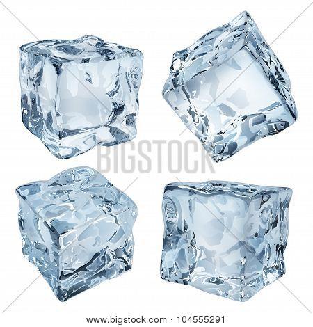 Opaque Light Blue Ice Cubes