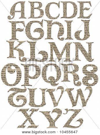 Vintage Swirl Alphabet