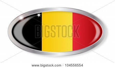 Belgian Flag Oval Button