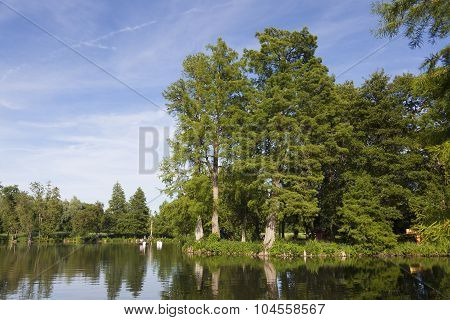 Lake In The Castle Of Chamarande, Essonne, France