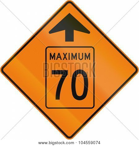 Temporary Maximum Speed 70 Kmh Ahead In Canada