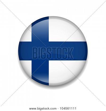 Finland Button Flag