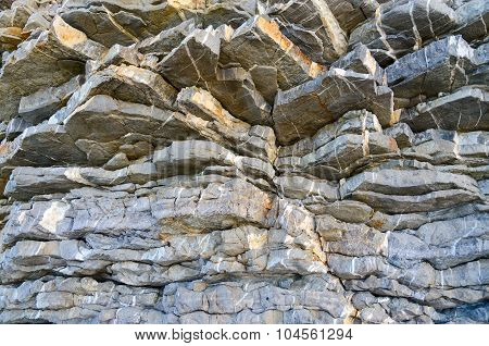 Natural Layered Structure Of The Stone Rock