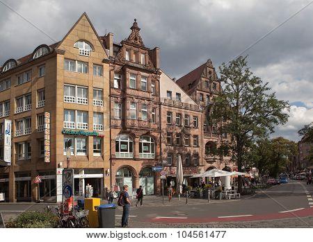 NUREMBERG, GERMANY - SEPTEMBER 04, 2015: Photo of Königsstraße shopping street.
