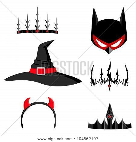 Set of halloween headdresses