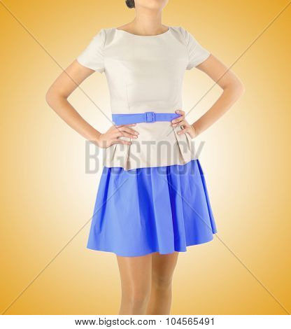 Fashion concept with model on white