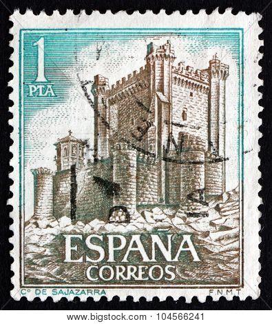 Postage Stamp Spain 1972 Castle Sajazarra, Rioja