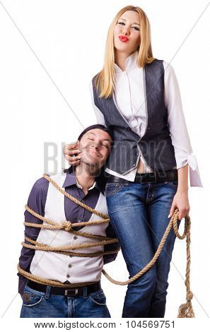 Family conflict with man and woman