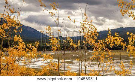 Autumn colors at Medicine Lake