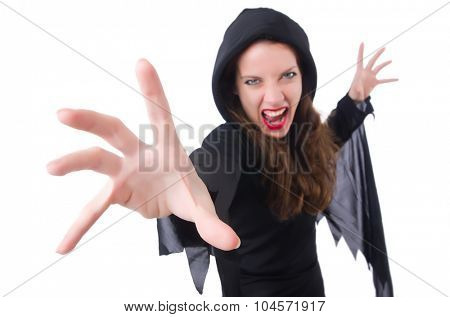 Witch isolated on white background