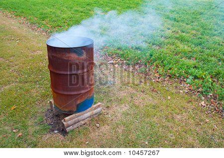 Burning Barrel