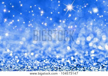 Abstract winter holiday christmas stars background