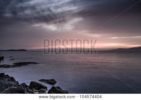Sunset On The Aegean Sea