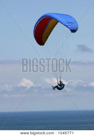 Blue Paraglider
