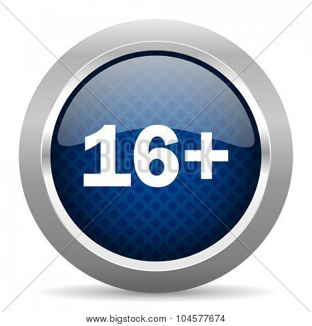 adults blue circle glossy web icon on white background, round button for internet and mobile app
