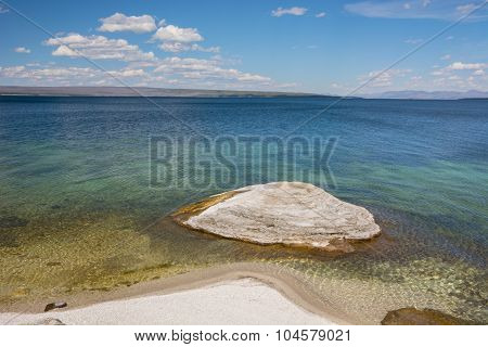 Fishing Cone And Yellowstone Lake