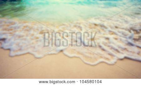 Blur Vintage Style Summer Beach In Thailand