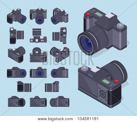 Isometric photo cameras