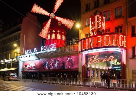 The Cabaret Moulin Rouge.