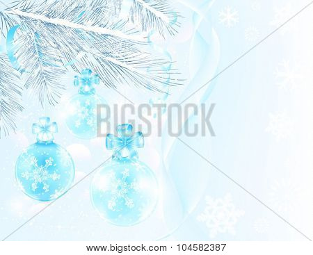 Blue balls Christmas card