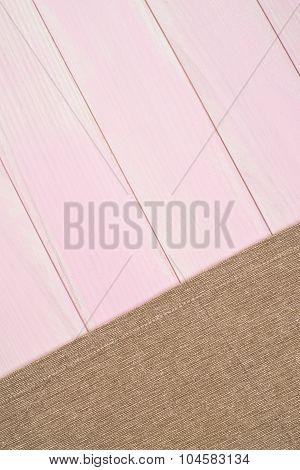Beige Towel Over Wooden Table