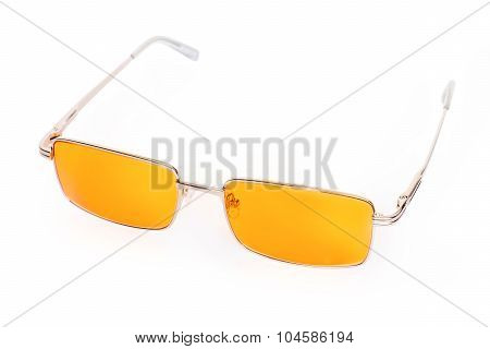 Yellow Glasses Isolated With Clipping Path