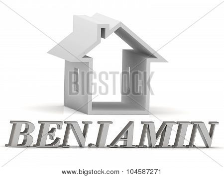 Benjamin- Inscription Of Silver Letters And White House