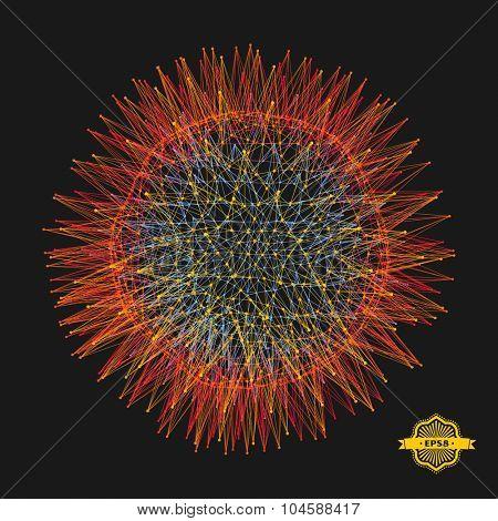 3d sphere. Technology concept. Vector illustration.