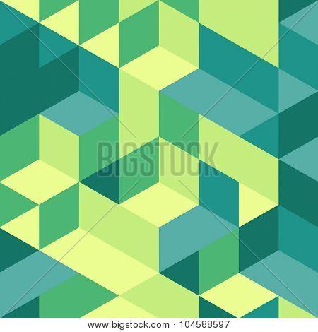 3d blocks structure background. Vector illustration.