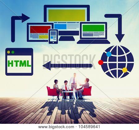 Blog Blogging Digital Networking WWW Global Concept