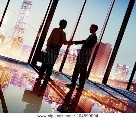 Businessmen Handshake Corporate Greeting Communication Concept