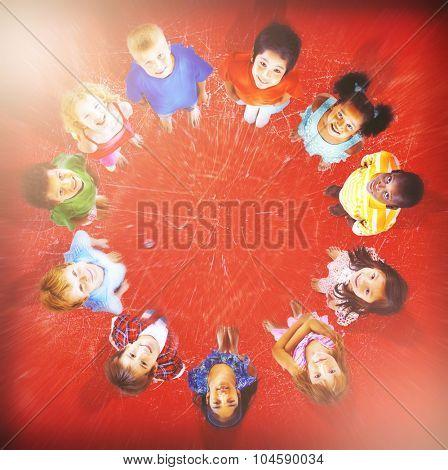 Kids Children Childhood Cheerful Happiness Concept