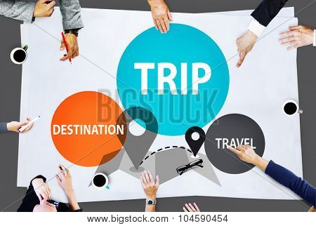 Trip Travel Destination Holiday Journey Concept