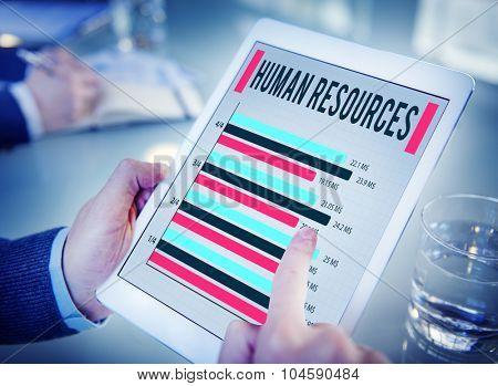Human Resources Employment Career Plan Concept