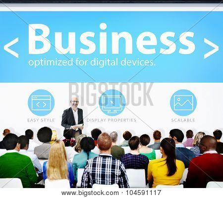 Global Business Commerce Organization Seminar Learning Concept