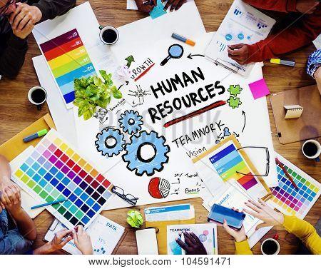 Human Resources Employment Job Teamwork Design Working Concept