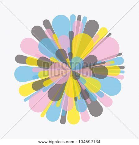 colorful Fireworks. Vector Illustration.