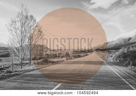 Autumn Country Road Mountain Background Concept