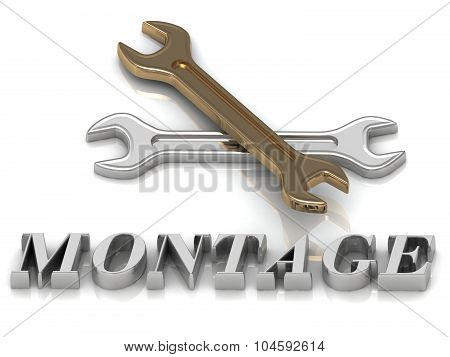 Montage- Inscription Of Metal Letters And 2 Keys