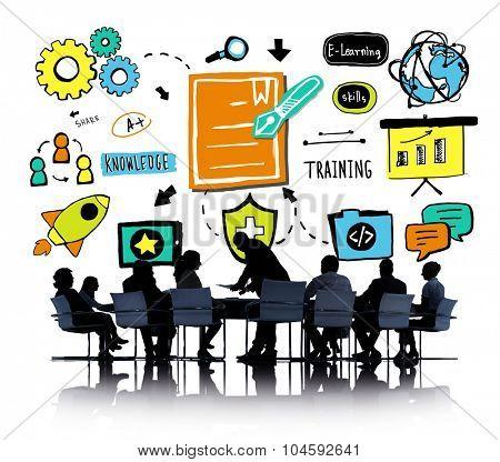 Business Team Training Communication Brainstorming Concept