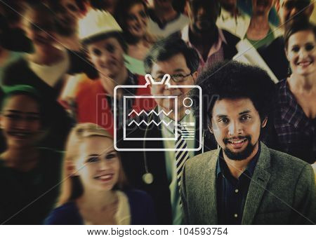 Television Broadcasting Multimedia Entertainment Technology Concept